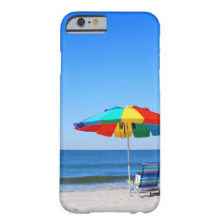 Cena do oceano e da praia capa barely there para iPhone 6