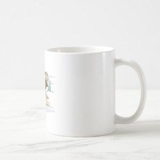 Cena dos alces caneca de café