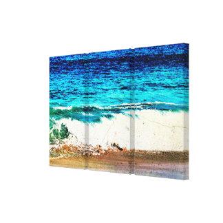Cena idílico da praia impressão em tela