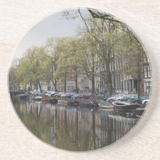 Cena quieta do canal - Amsterdão, Holland Países B Porta Copos