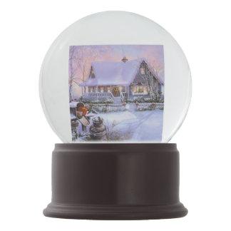 Cena Snowglobe do inverno do Natal