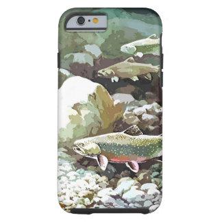 Cena subaquática da pesca da truta capa para iPhone 6 tough