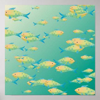 Cena subaquática impressão
