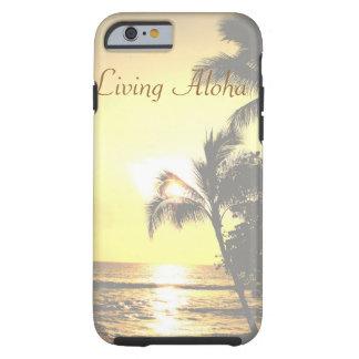 Cena tropical de Havaí que vive Aloha Capa Para iPhone 6 Tough