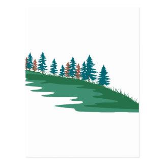 Cena verde cartão postal