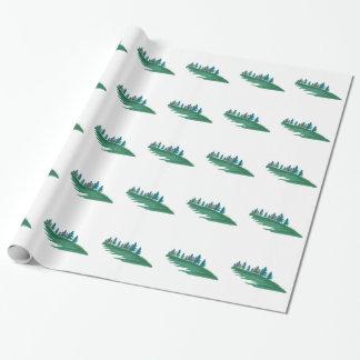 Cena verde papel de presente