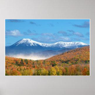 Cenário da foto do Mt Katahdin Poster