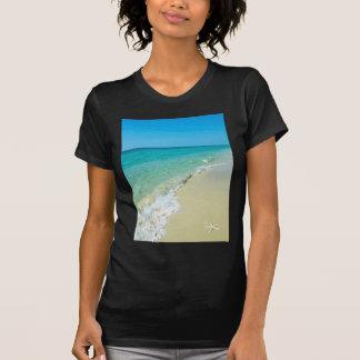 Cenário da praia camiseta