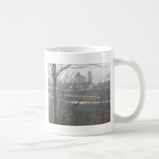 Cenário do inverno caneca de café