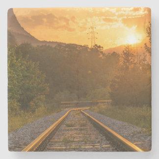 Cenário Railway do por do sol Porta Copos De Pedras