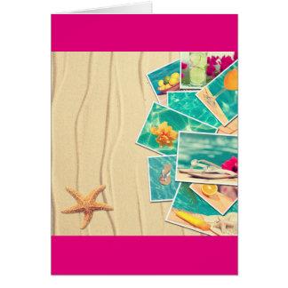 Cenas da praia cartão comemorativo