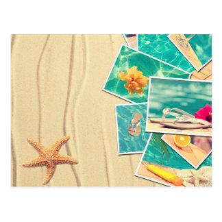 Cenas da praia cartão postal