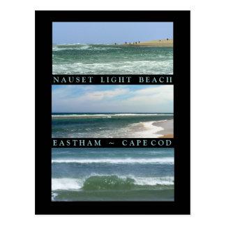 Cenas da praia clara de Nauset Cartão Postal