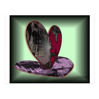 Central do coração cartão postal