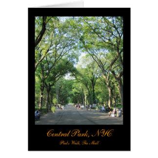 Central Park: A caminhada do poeta no verão Cartão Comemorativo