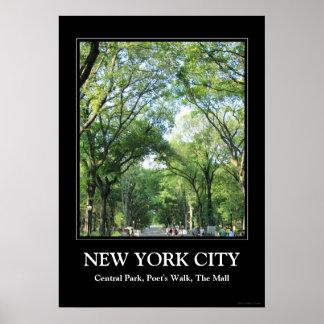 Central Park: A caminhada do poeta no verão Posters