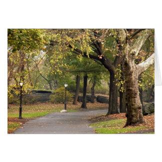 Central Park Cartão Comemorativo