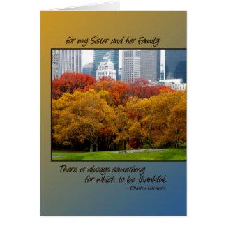 Central Park da acção de graças para a irmã & a su Cartoes