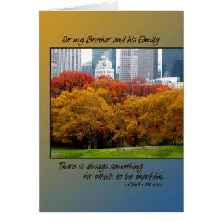 Central Park da acção de graças para o irmão a s Cartoes