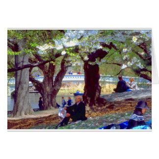 Central Park Manet Cartão Comemorativo