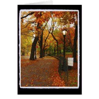 Central Park no outono Cartão De Nota