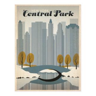 Central Park, NYC - neve Cartão Postal