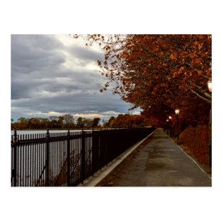 Central Park NYC no outono Cartão Postal