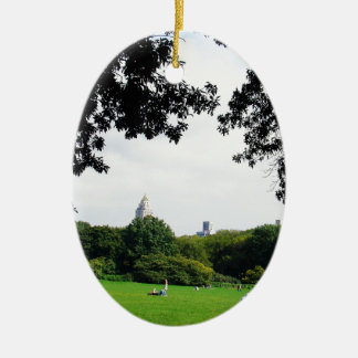 Central Park Ornamento De Cerâmica Oval