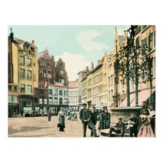 centro da cidade de Antuérpia Bélgica dos 1900s Cartão Postal