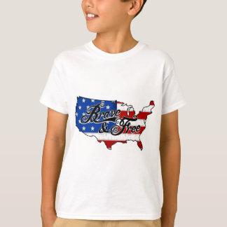 centro do Dia da Independência da bandeira Tshirts