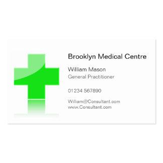 Centro médico dos cuidados médicos transversais cartão de visita