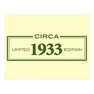 cerca de 1933 cartão postal