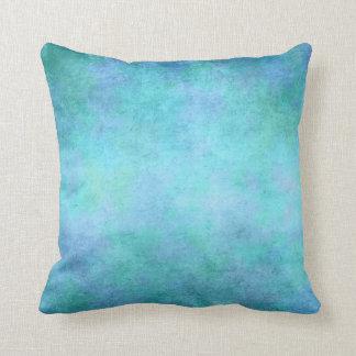 Cerceta azul, roxa, Aqua, e aguarela violeta Almofada