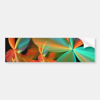 Cerceta bonita & pétalas alaranjadas da flor da ar adesivo para carro
