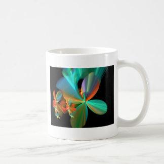 Cerceta bonita & pétalas alaranjadas da flor da caneca