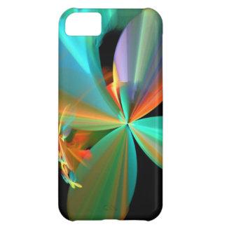 Cerceta bonita & pétalas alaranjadas da flor da capa para iPhone 5C