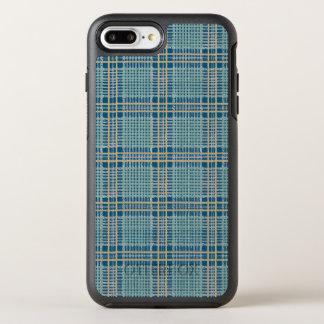 Cerceta da xadrez azul e amarela capa para iPhone 7 plus OtterBox symmetry