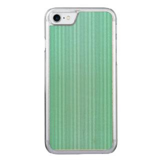 Cerceta de água-marinha e teste padrão verde das capa iPhone 7 carved