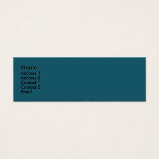 cerceta escura do azul de turquesa cartão de visitas mini