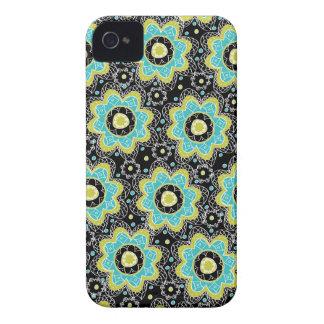 Cerceta & limão retros modernos da flor capinhas iPhone 4
