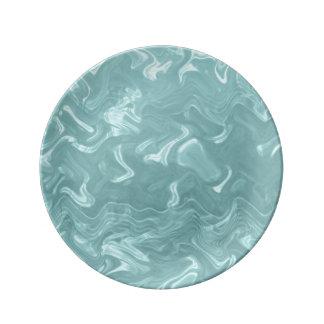 Cerceta Marbleing Prato De Porcelana