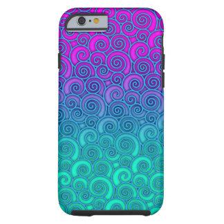 Cerceta ondulada na moda de Swirly e abstrato Capa Tough Para iPhone 6