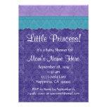 Cerceta roxa chá de fraldas pequeno S209 da prince Convites Personalizado