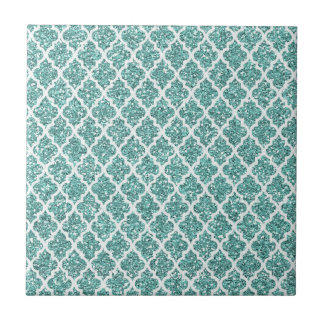 Cerceta Sparkling Azulejo Quadrado Pequeno