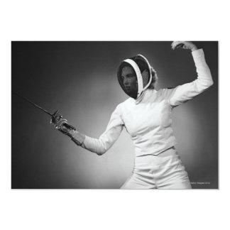 Cerco da mulher convite 12.7 x 17.78cm