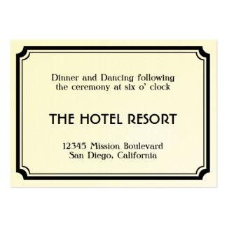 Cerco retro da recepção de casamento do art deco p cartão de visita grande