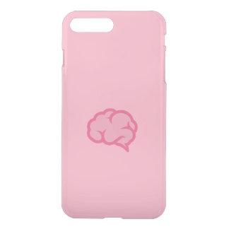 Cérebro cor-de-rosa capa iPhone 7 plus