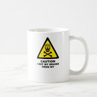 cérebros obtidos caneca de café