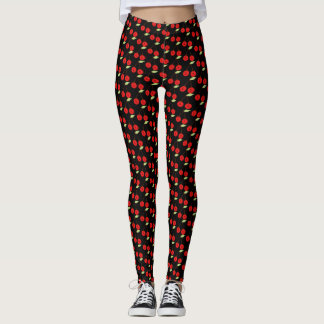 Cerejas alegres leggings