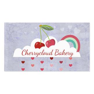 Cerejas no cozimento da casa da padaria do cartão de visita